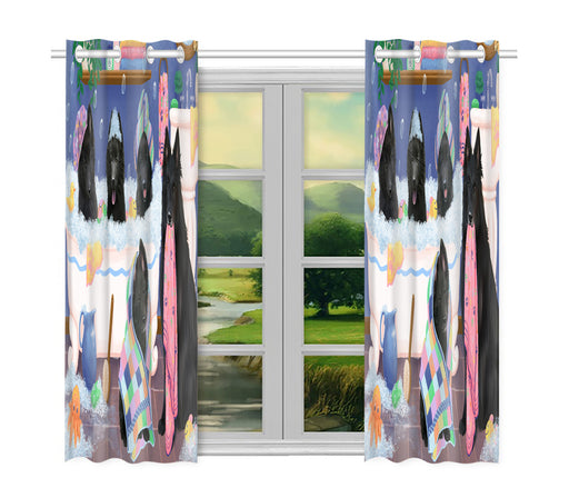 Rub A Dub Dogs In A Tub Belgian Shepherd Dogs Window Curtain