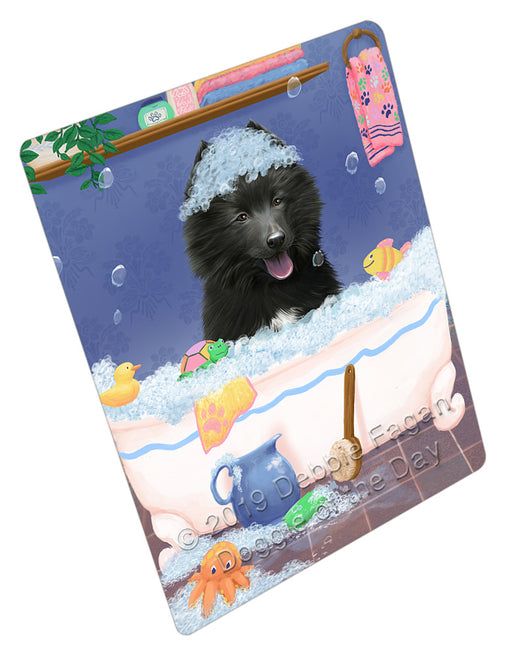 Rub A Dub Dog In A Tub Belgian Shepherd  Dog Refrigerator / Dishwasher Magnet RMAG108786