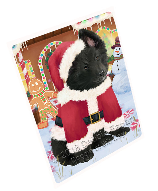 Christmas Gingerbread House Candyfest Belgian Shepherd Dog Large Refrigerator / Dishwasher Magnet RMAG99282