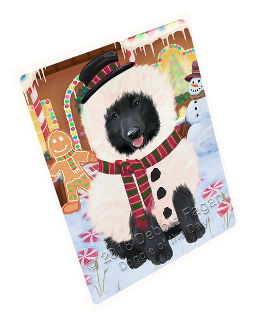 Christmas Gingerbread House Candyfest Belgian Shepherd Dog Large Refrigerator / Dishwasher Magnet RMAG99288