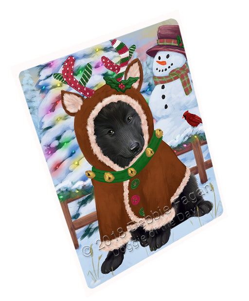 Christmas Gingerbread House Candyfest Belgian Shepherd Dog Large Refrigerator / Dishwasher Magnet RMAG99294