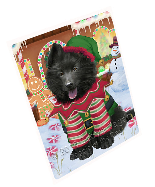 Christmas Gingerbread House Candyfest Belgian Shepherd Dog Large Refrigerator / Dishwasher Magnet RMAG99300