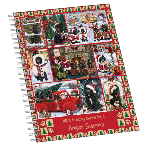 Love is Being Owned Christmas Belgian Shepherd Dogs Notebook NTB55592