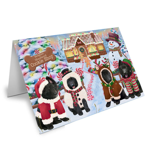 Holiday Gingerbread Cookie Shop Belgian Shepherds Dog Note Card NCD72824
