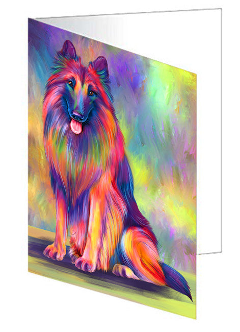 Paradise Wave Belgian Tervuren Dog Note Card NCD79799