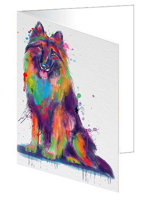 Watercolor Belgian Tervuren Dog Note Card NCD79925
