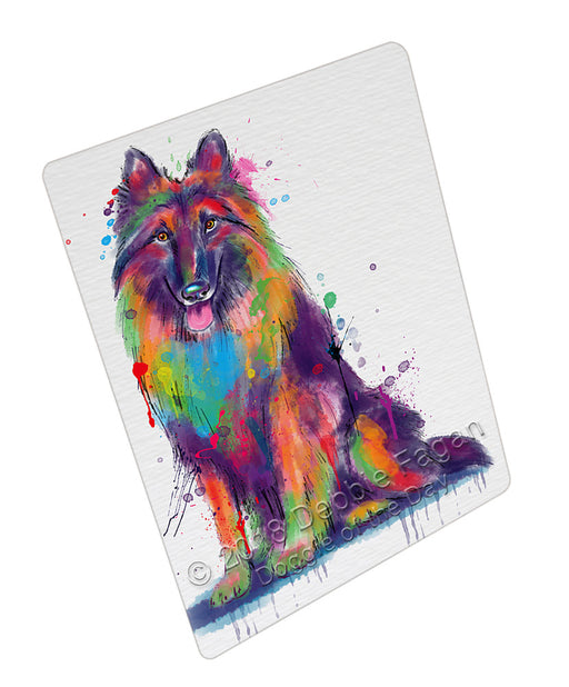 Watercolor Belgian Tervuren Dog Refrigerator / Dishwasher Magnet RMAG110190