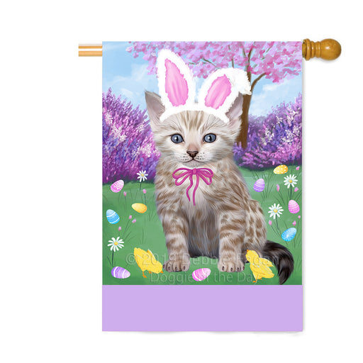 Personalized Easter Holiday Bengal Cat Custom House Flag FLG-DOTD-A58808