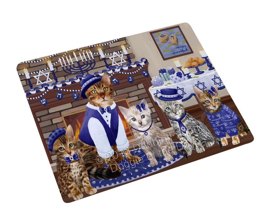 Happy Hanukkah Family and Happy Hanukkah Both Bengal Cats Cutting Board C77575