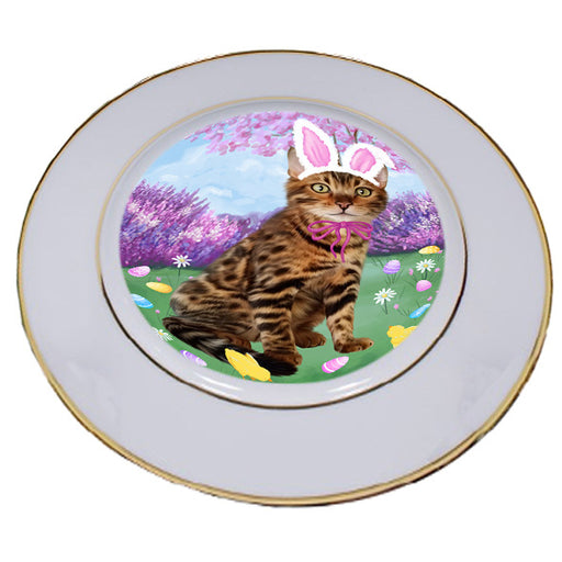 Easter Holiday Bengal Cat Porcelain Plate PLT55267
