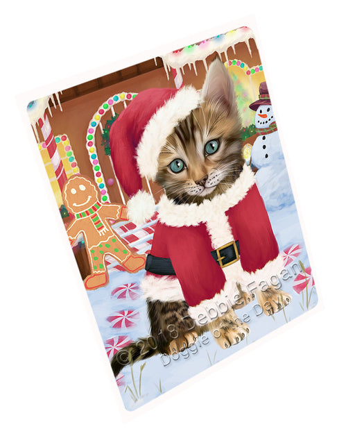 Christmas Gingerbread House Candyfest Bengal Cat Dog Large Refrigerator / Dishwasher Magnet RMAG99306