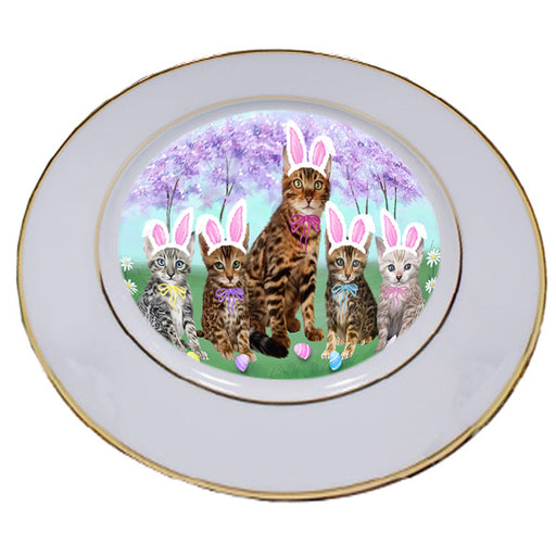 Easter Holiday Bengal Cats Porcelain Plate PLT55268