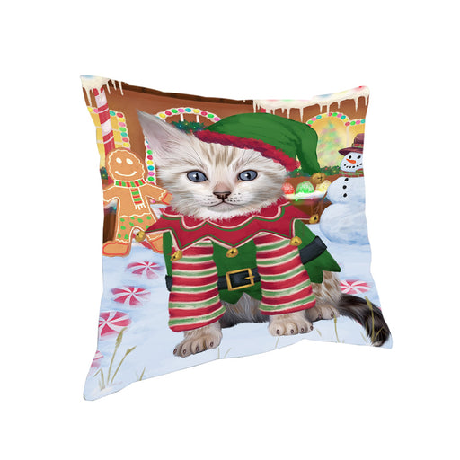 Christmas Gingerbread House Candyfest Bengal Cat Dog Pillow PIL78988