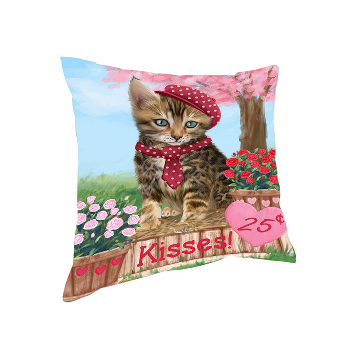 Rosie 25 Cent Kisses Bengal Cat Pillow PIL72192