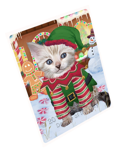 Christmas Gingerbread House Candyfest Bengal Cat Dog Large Refrigerator / Dishwasher Magnet RMAG99312