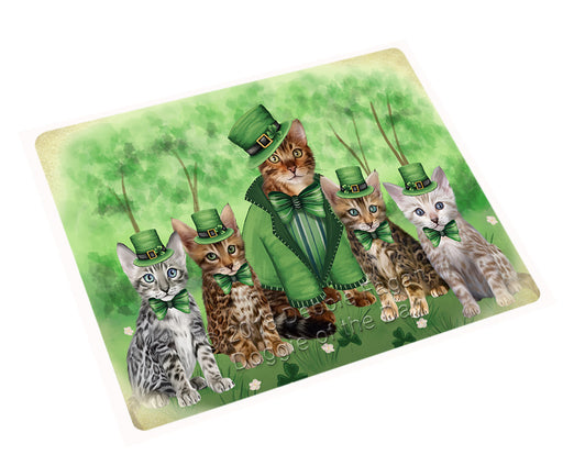 St. Patricks Day Irish Portrait Bengal Cats Refrigerator / Dishwasher Magnet RMAG104280
