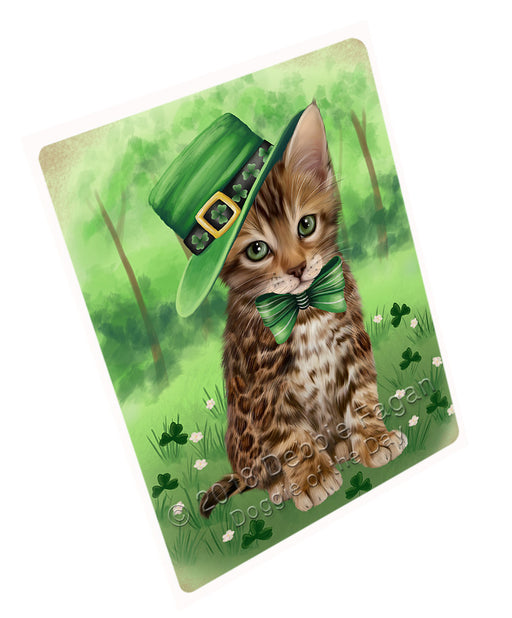 St. Patricks Day Irish Portrait Bengal Cat Refrigerator / Dishwasher Magnet RMAG104286