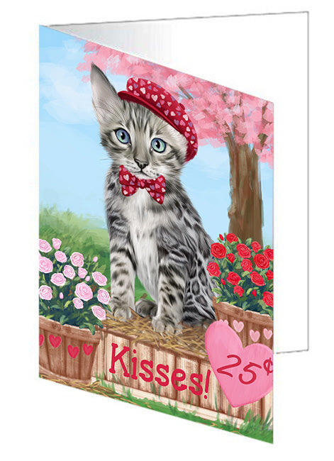 Rosie 25 Cent Kisses Bengal Cat Note Card NCD71969