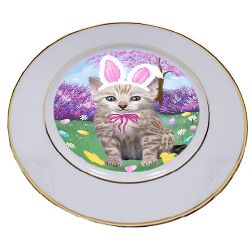 Easter Holiday Bengal Cat Porcelain Plate PLT55270