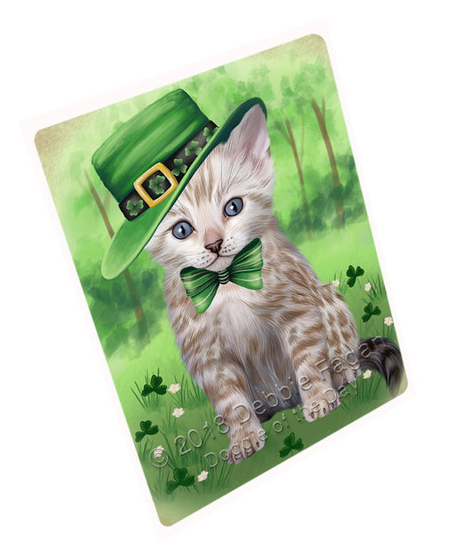 St. Patricks Day Irish Portrait Bengal Cat Refrigerator / Dishwasher Magnet RMAG104292