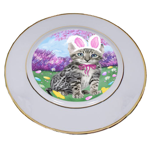 Easter Holiday Bengal Cat Porcelain Plate PLT55271