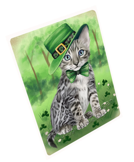 St. Patricks Day Irish Portrait Bengal Cat Refrigerator / Dishwasher Magnet RMAG104298