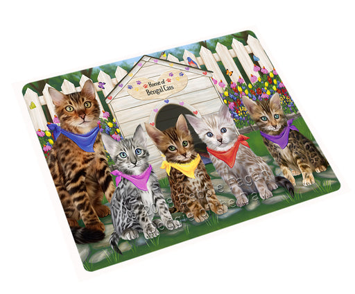 Spring Dog House Bengal Cats Large Refrigerator / Dishwasher Magnet RMAG73386