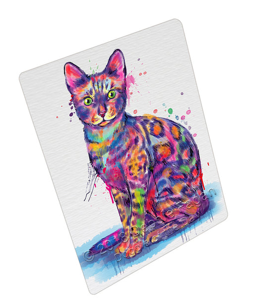 Watercolor Bengal Cat Refrigerator / Dishwasher Magnet RMAG105546