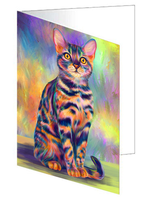 Paradise Wave Bengal Cat Note Card NCD72680