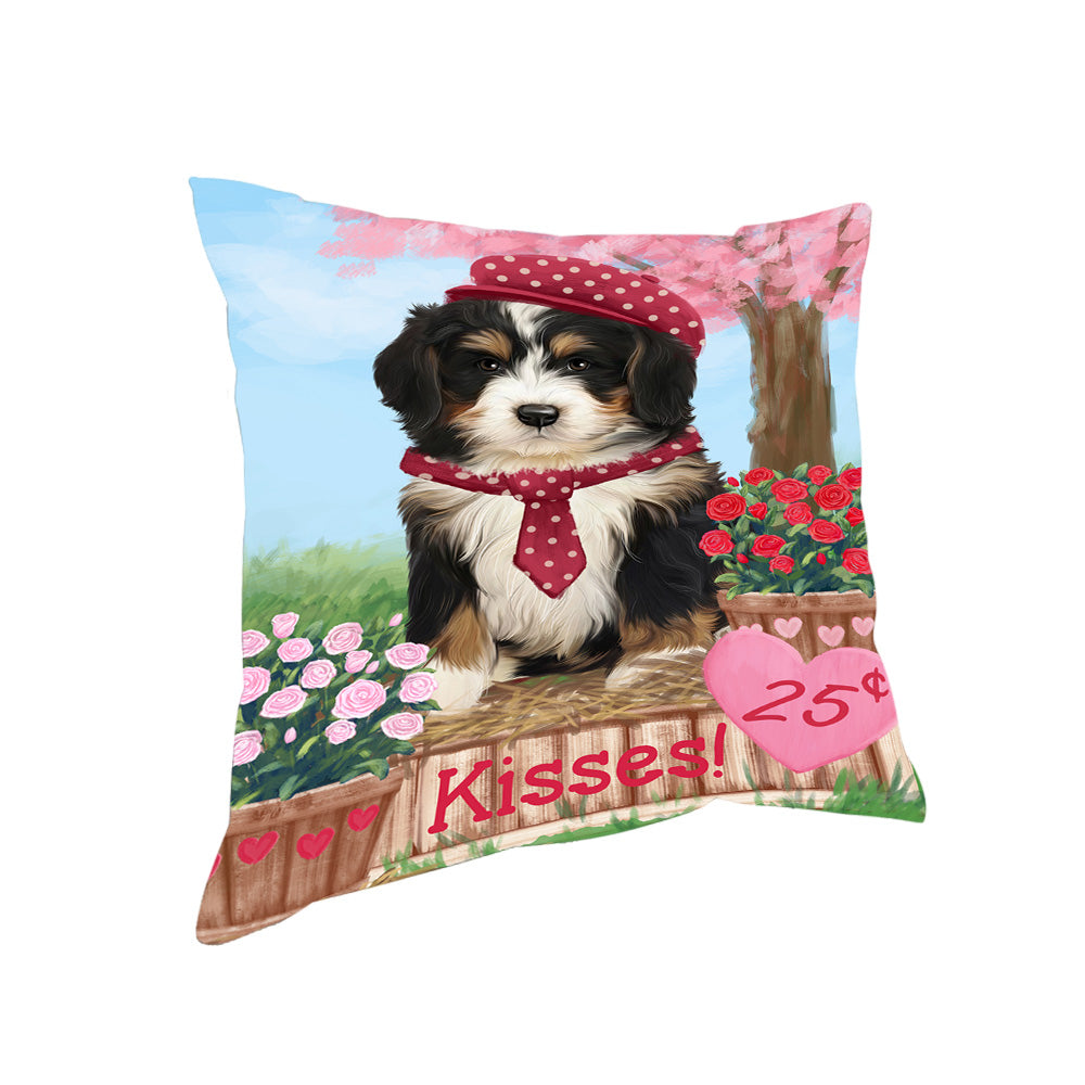 Rosie 25 Cent Kisses Bernedoodle Dog Pillow PIL72204