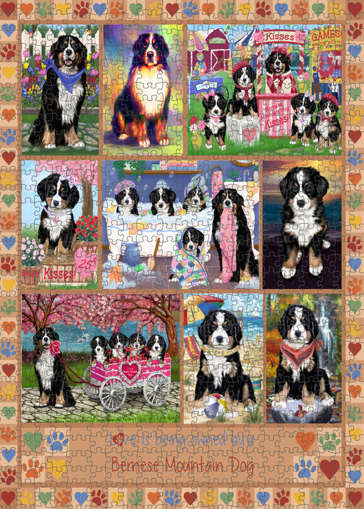 Love is Being Owned Bernese Mountain Dog Beige Puzzle with Photo Tin PUZL98260