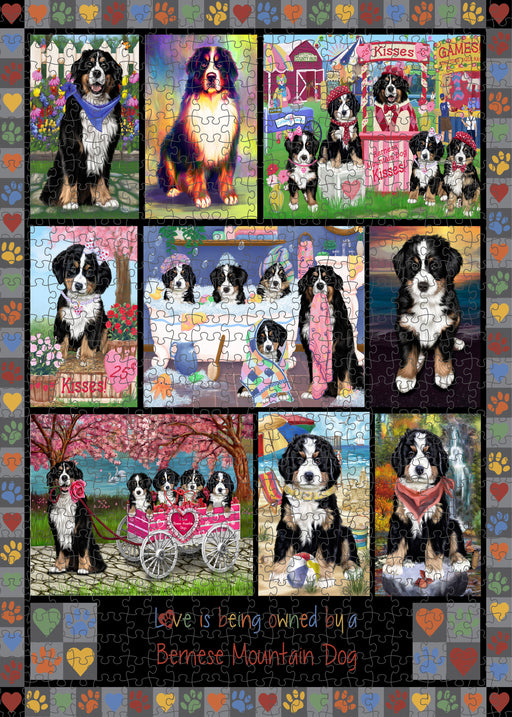 Love is Being Owned Bernese Mountain Dog Grey Puzzle with Photo Tin PUZL98264