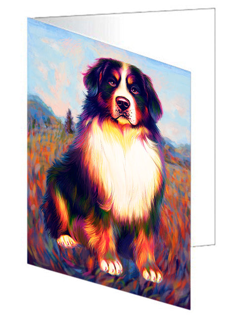 Mystic Blaze Bernese Mountain Dog Note Card NCD64754
