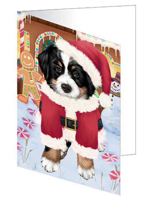 Christmas Gingerbread House Candyfest Bernese Mountain Dog Greeting Card GCD73052