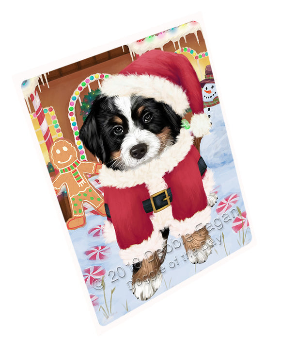 Christmas Gingerbread House Candyfest Bernese Mountain Dog Large Refrigerator / Dishwasher Magnet RMAG99342