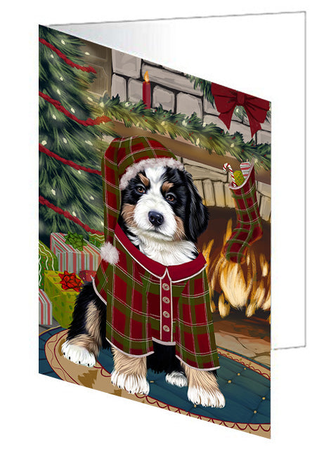 The Stocking was Hung Doberman Pinscher Dog Note Card NCD70424