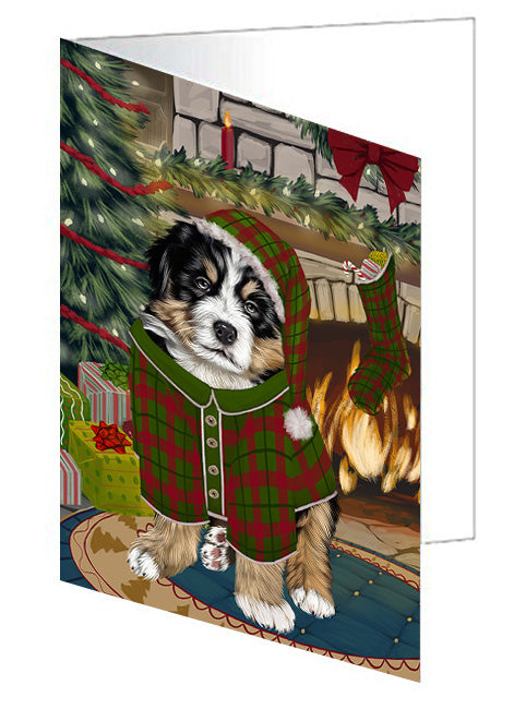 The Stocking was Hung Doberman Pinscher Dog Note Card NCD70421