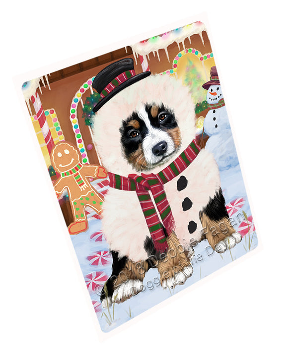 Christmas Gingerbread House Candyfest Bernese Mountain Dog Large Refrigerator / Dishwasher Magnet RMAG99348