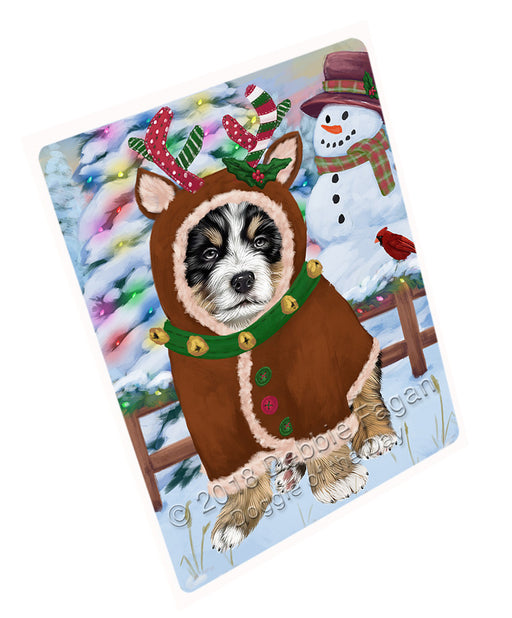 Christmas Gingerbread House Candyfest Bernese Mountain Dog Large Refrigerator / Dishwasher Magnet RMAG99354