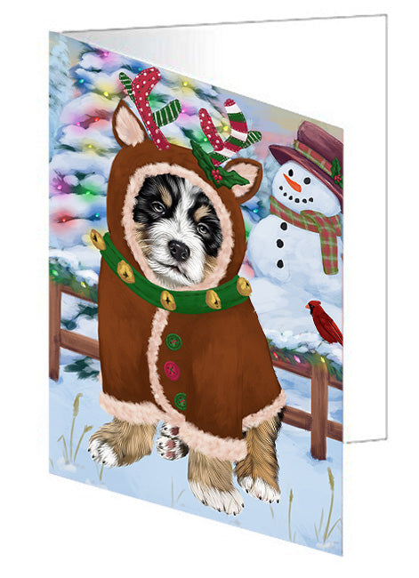 Christmas Gingerbread House Candyfest Bernese Mountain Dog Greeting Card GCD73058