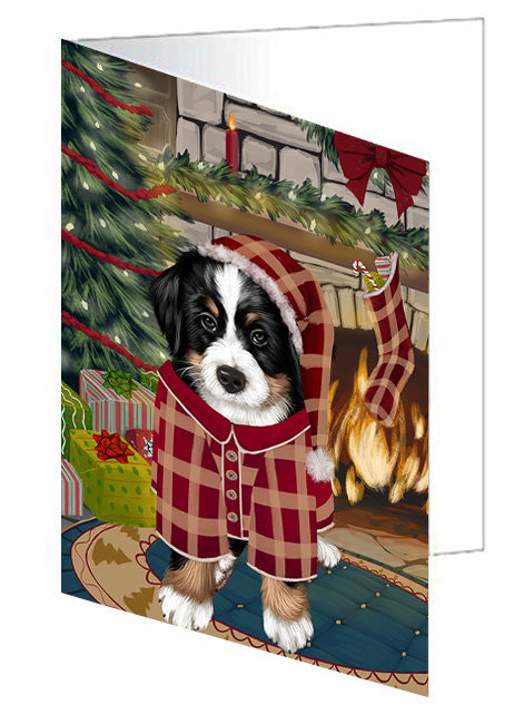 The Stocking was Hung Doberman Pinscher Dog Note Card NCD70418