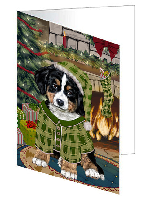 The Stocking was Hung Doberman Pinscher Dog Note Card NCD70415
