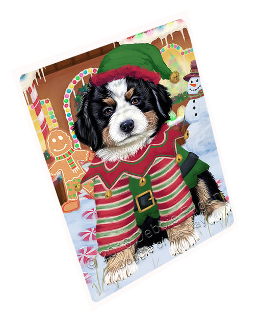 Christmas Gingerbread House Candyfest Bernese Mountain Dog Large Refrigerator / Dishwasher Magnet RMAG99360