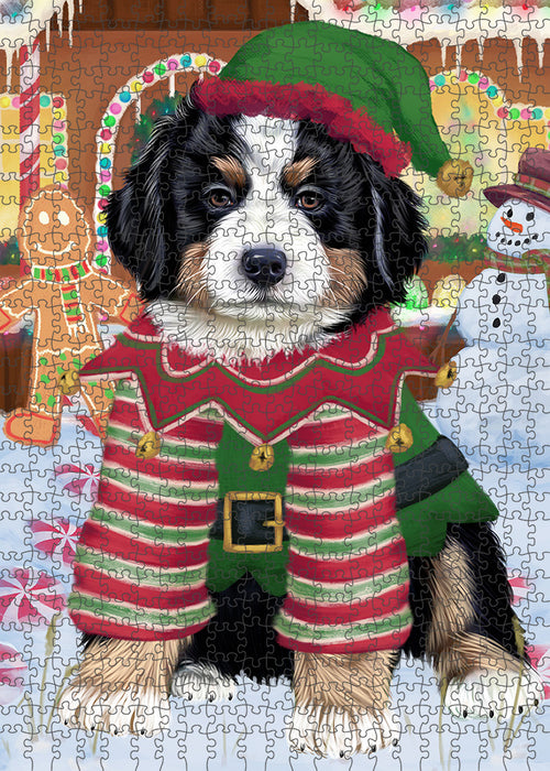 Christmas Gingerbread House Candyfest Bernese Mountain Dog Puzzle with Photo Tin PUZL92928
