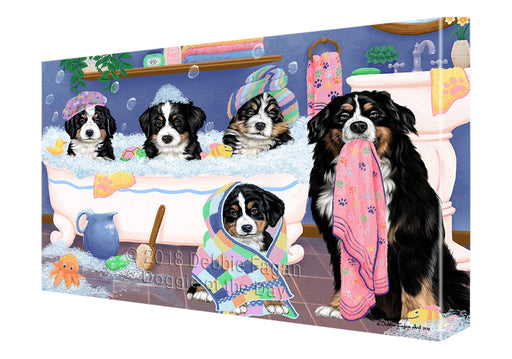 Rub A Dub Dogs In A Tub Bernese Mountain Dogs Canvas Print Wall Art Décor CVS133100