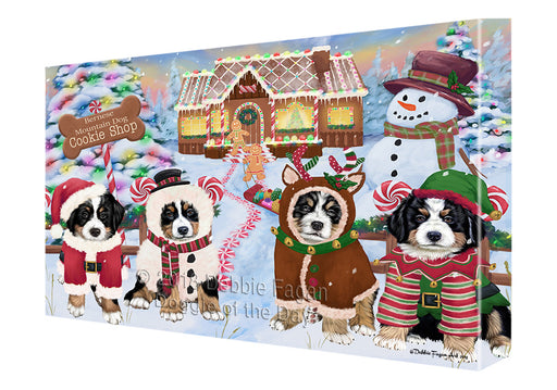 Holiday Gingerbread Cookie Shop Bernese Mountain Dogs Canvas Print Wall Art Décor CVS127178