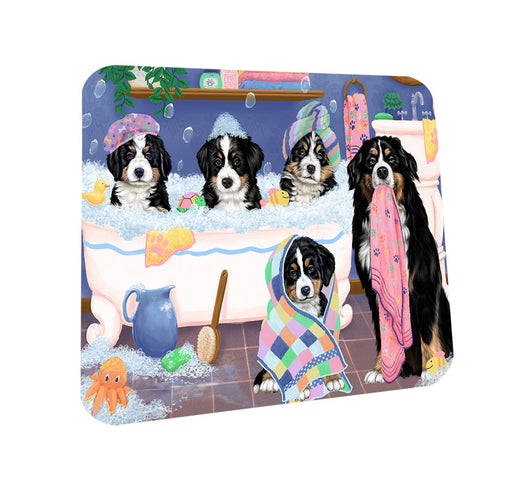 Rub A Dub Dogs In A Tub Bernese Mountain Dogs Coasters Set of 4 CST56722