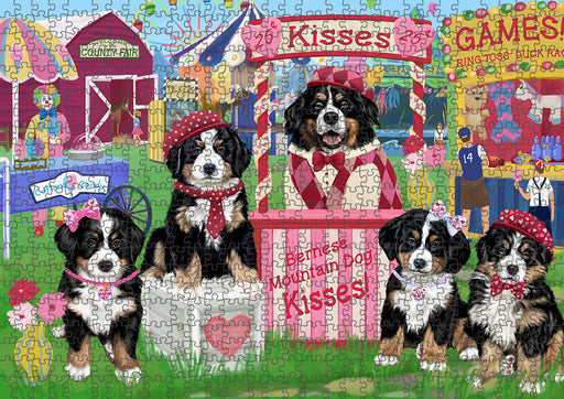 Carnival Kissing Booth Bernese Mountain Dogs Puzzle with Photo Tin PUZL91340