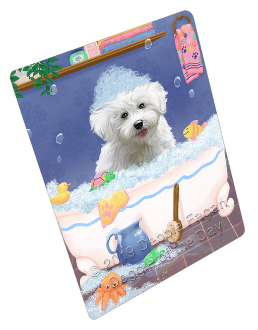 Rub A Dub Dog In A Tub Bichon Frise Dog Refrigerator / Dishwasher Magnet RMAG108822
