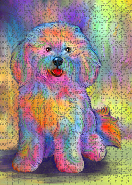 Paradise Wave Bichon Frise Dog Puzzle with Photo Tin PUZL94976